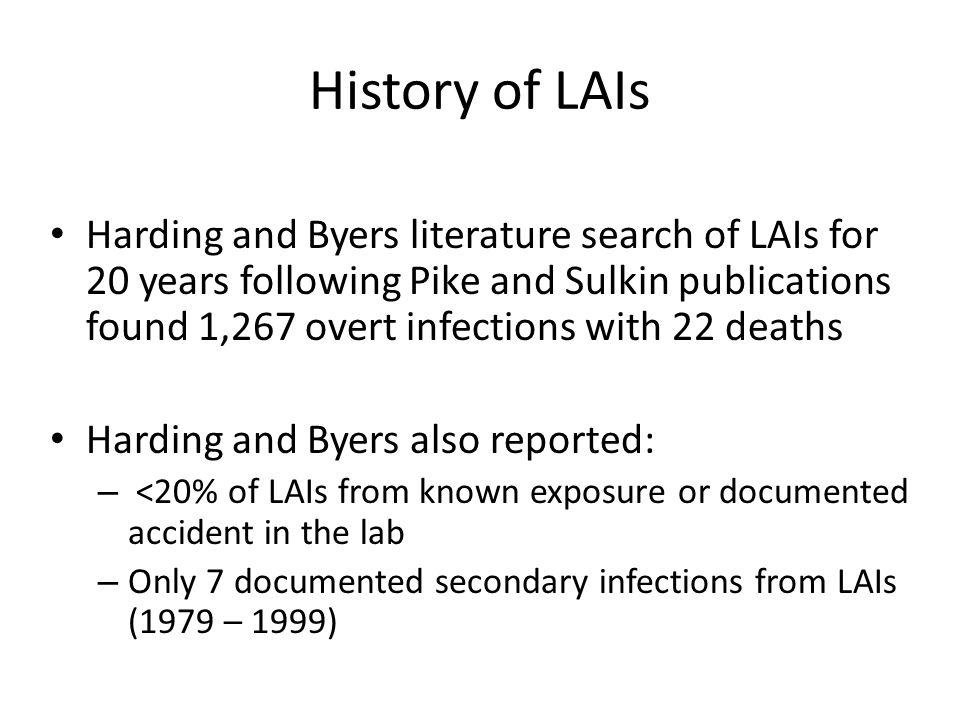 History of LAIs