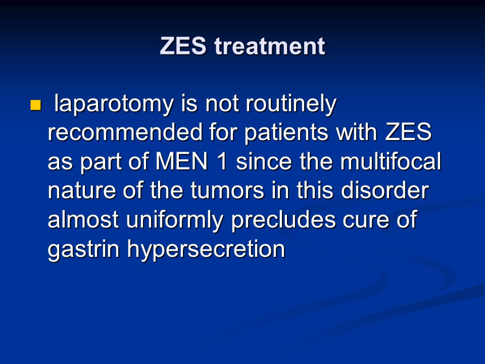 ZES treatment
