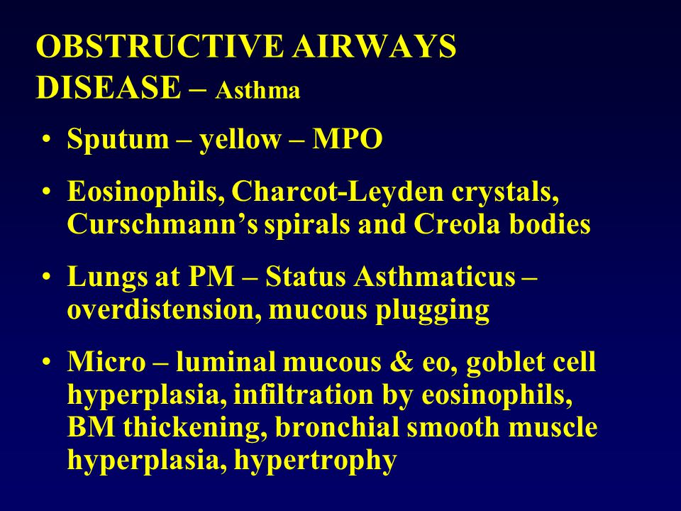 OBSTRUCTIVE AIRWAYS DISEASE – Asthma