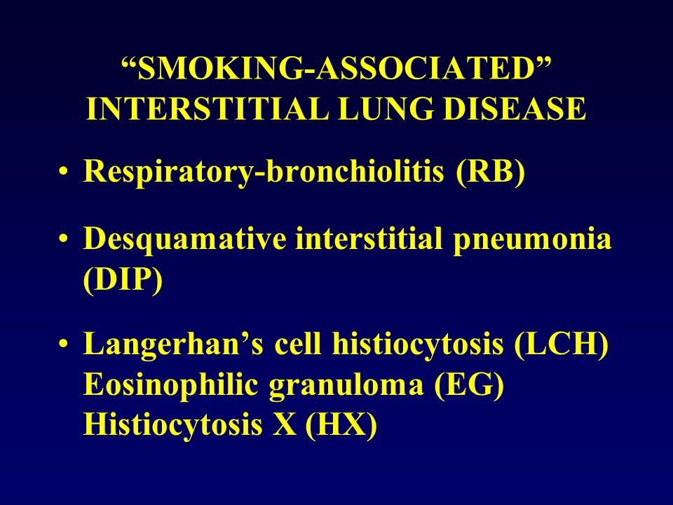 SMOKING-ASSOCIATED INTERSTITIAL LUNG DISEASE