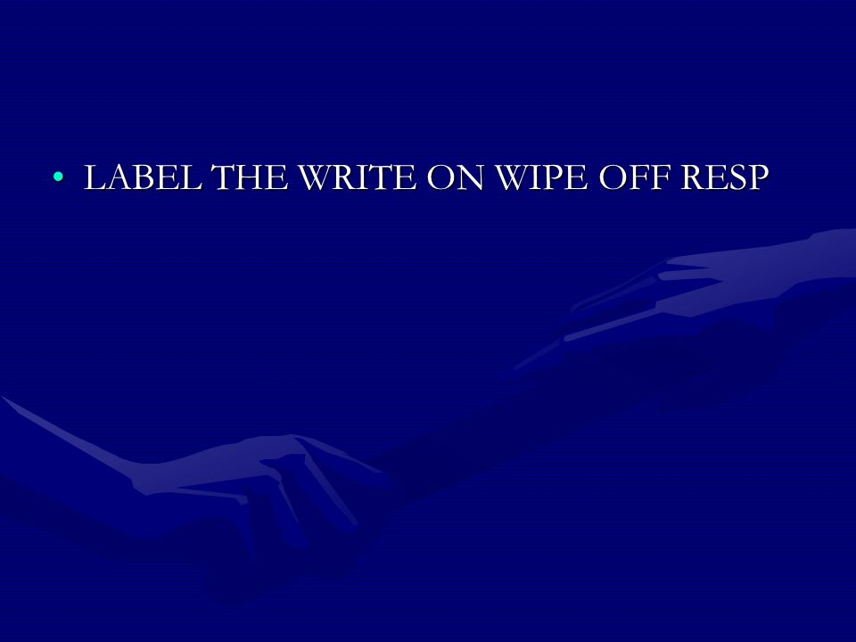 LABEL THE WRITE ON WIPE OFF RESP