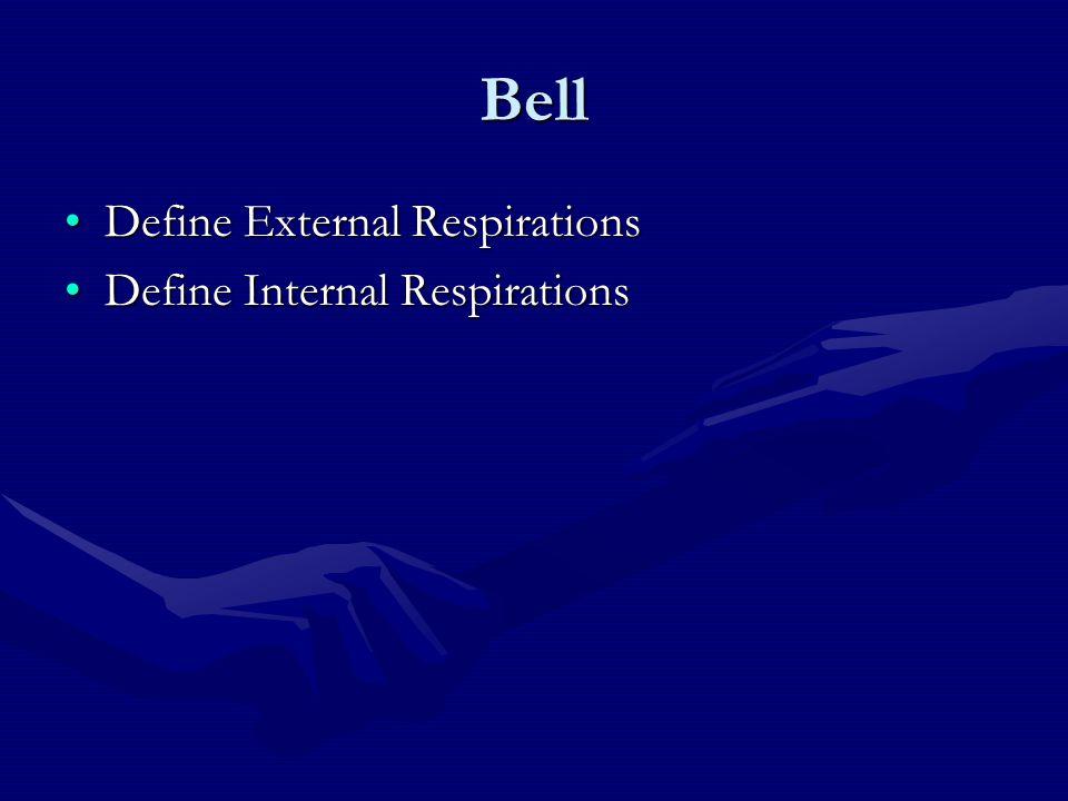 Bell Define External Respirations Define Internal Respirations