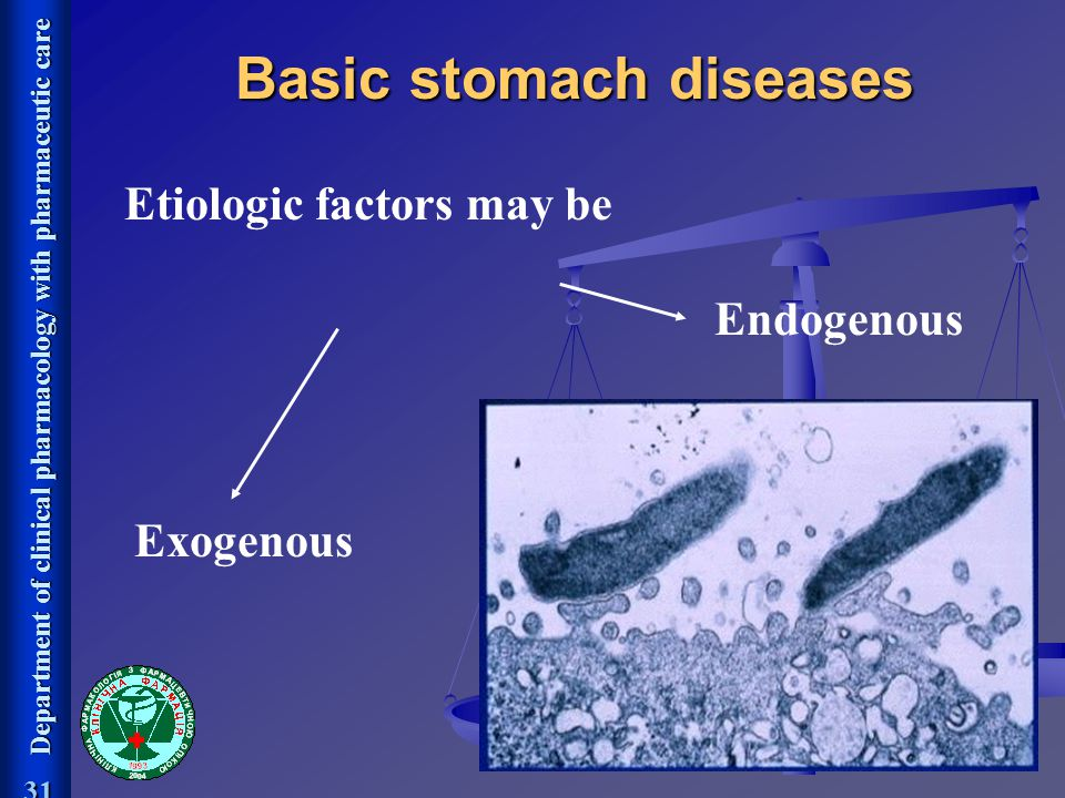 Basic stomach diseases Etiologic factors may be