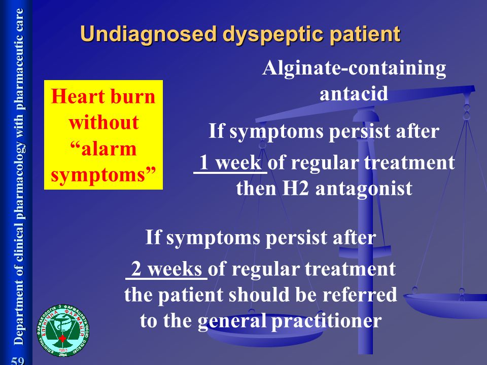 Undiagnosed dyspeptic patient