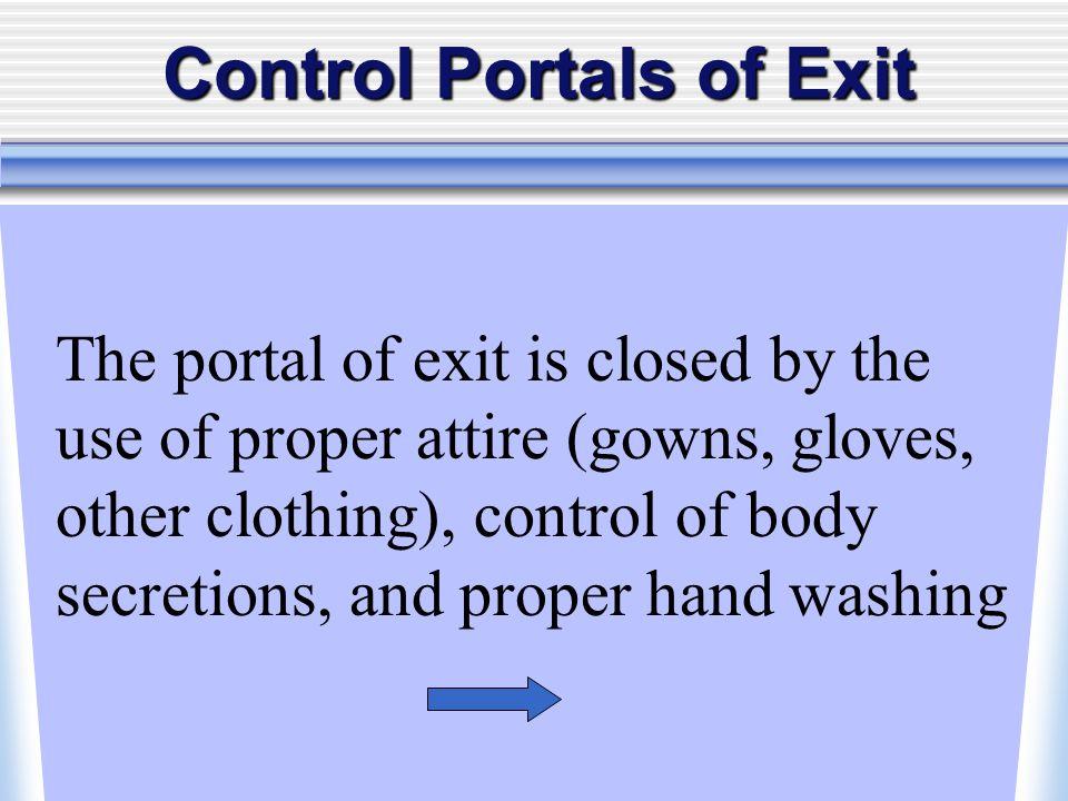 Control Portals of Exit
