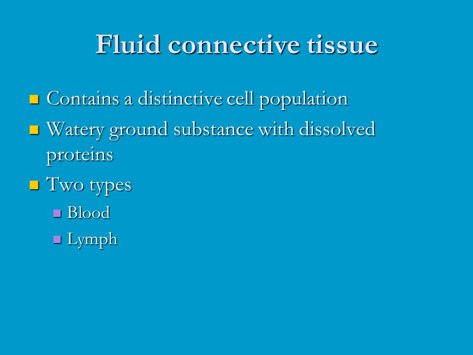 Fluid connective tissue