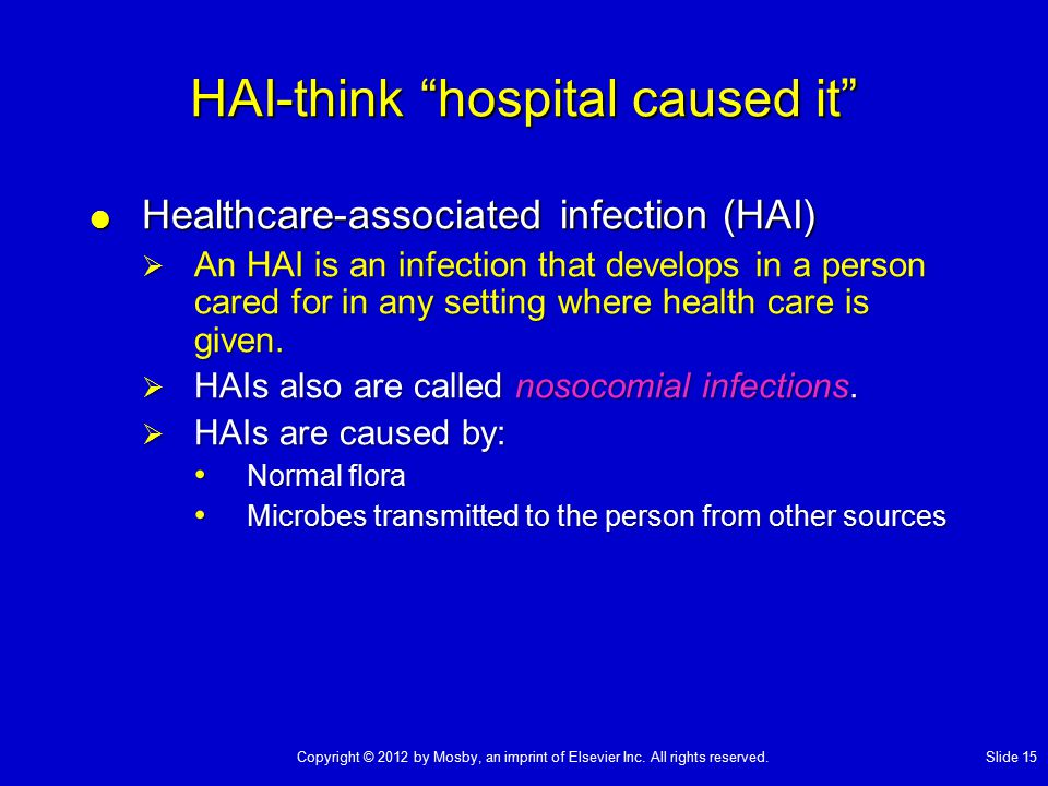 HAI-think hospital caused it
