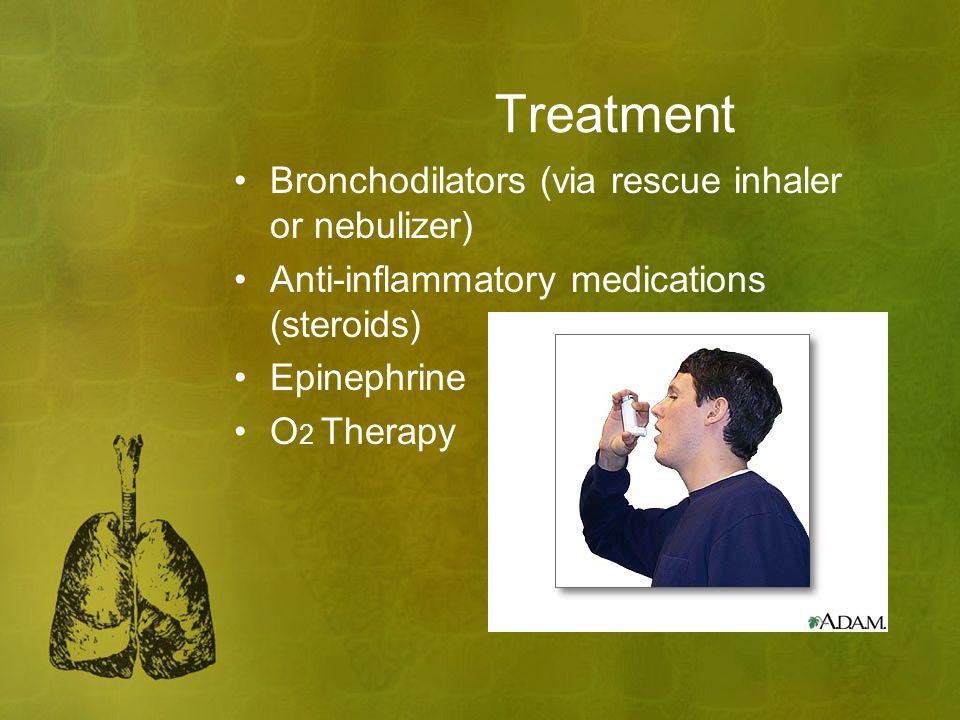 Treatment Bronchodilators (via rescue inhaler or nebulizer)