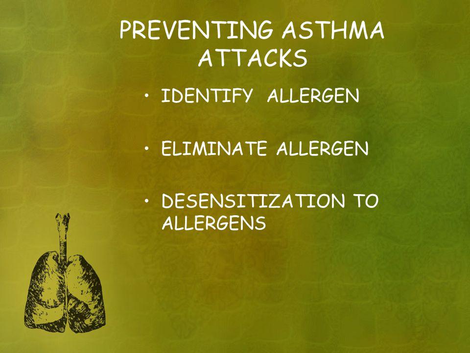 PREVENTING ASTHMA ATTACKS