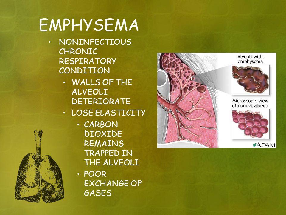 EMPHYSEMA NONINFECTIOUS CHRONIC RESPIRATORY CONDITION