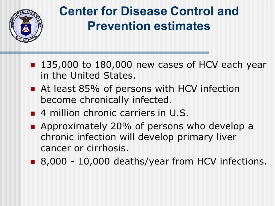 Center for Disease Control and Prevention estimates