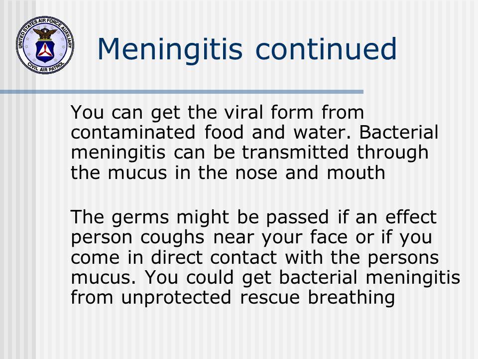 Meningitis continued