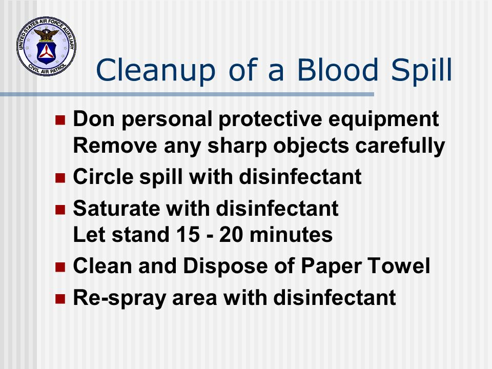 Cleanup of a Blood Spill