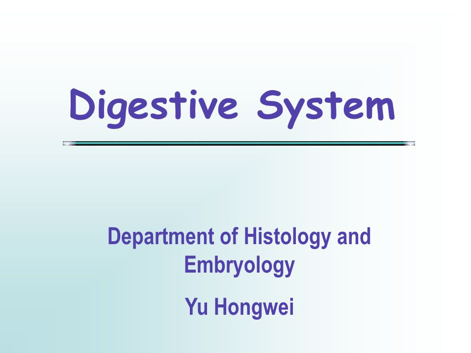 Department of Histology and Embryology