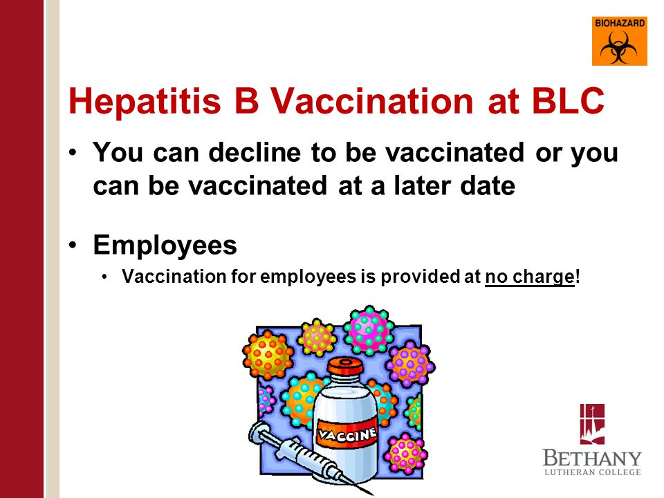 Hepatitis B Vaccination at BLC