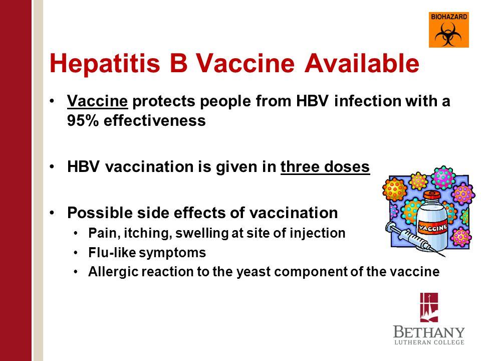 Hepatitis B Vaccine Available