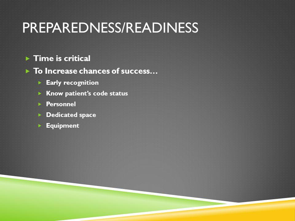 Preparedness/Readiness