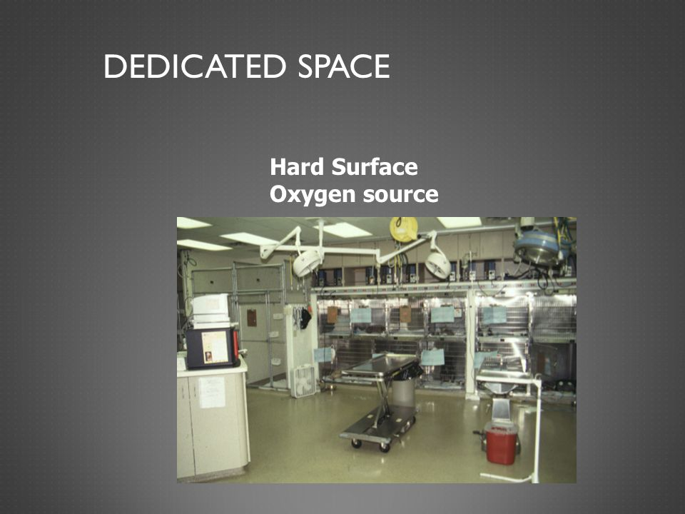 Dedicated space Hard Surface Oxygen source
