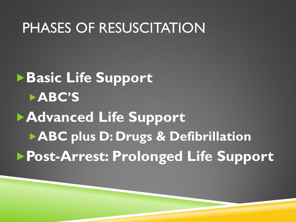 Phases of Resuscitation