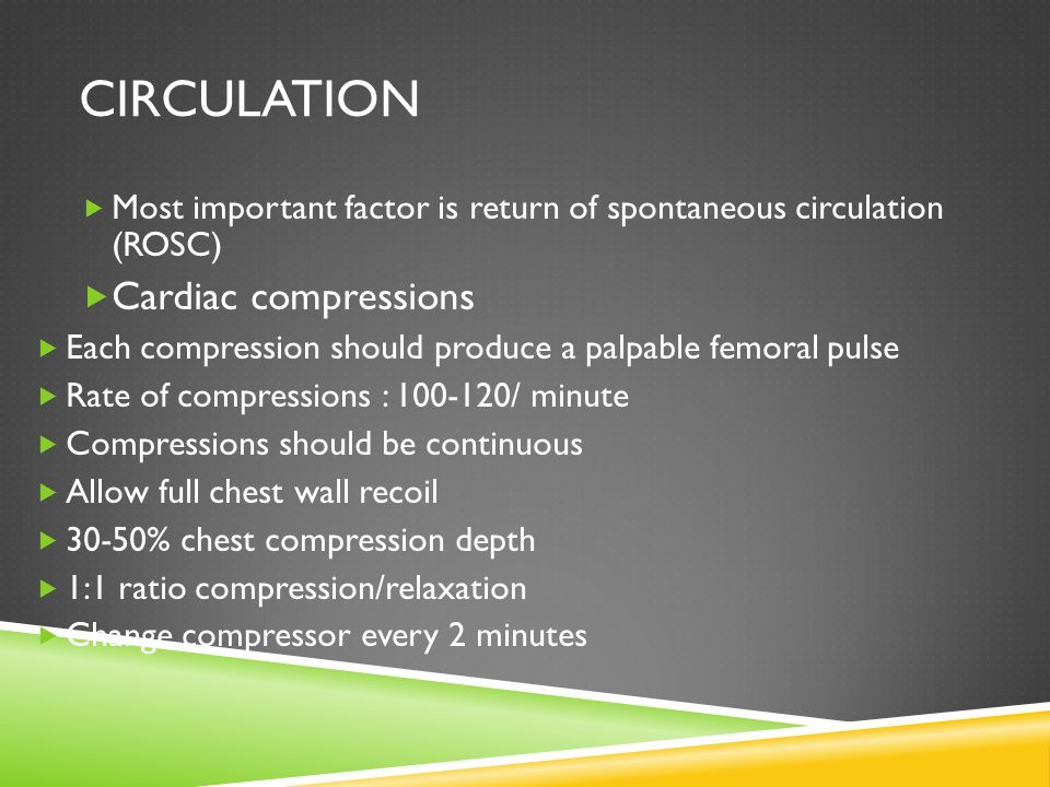 Circulation Cardiac compressions