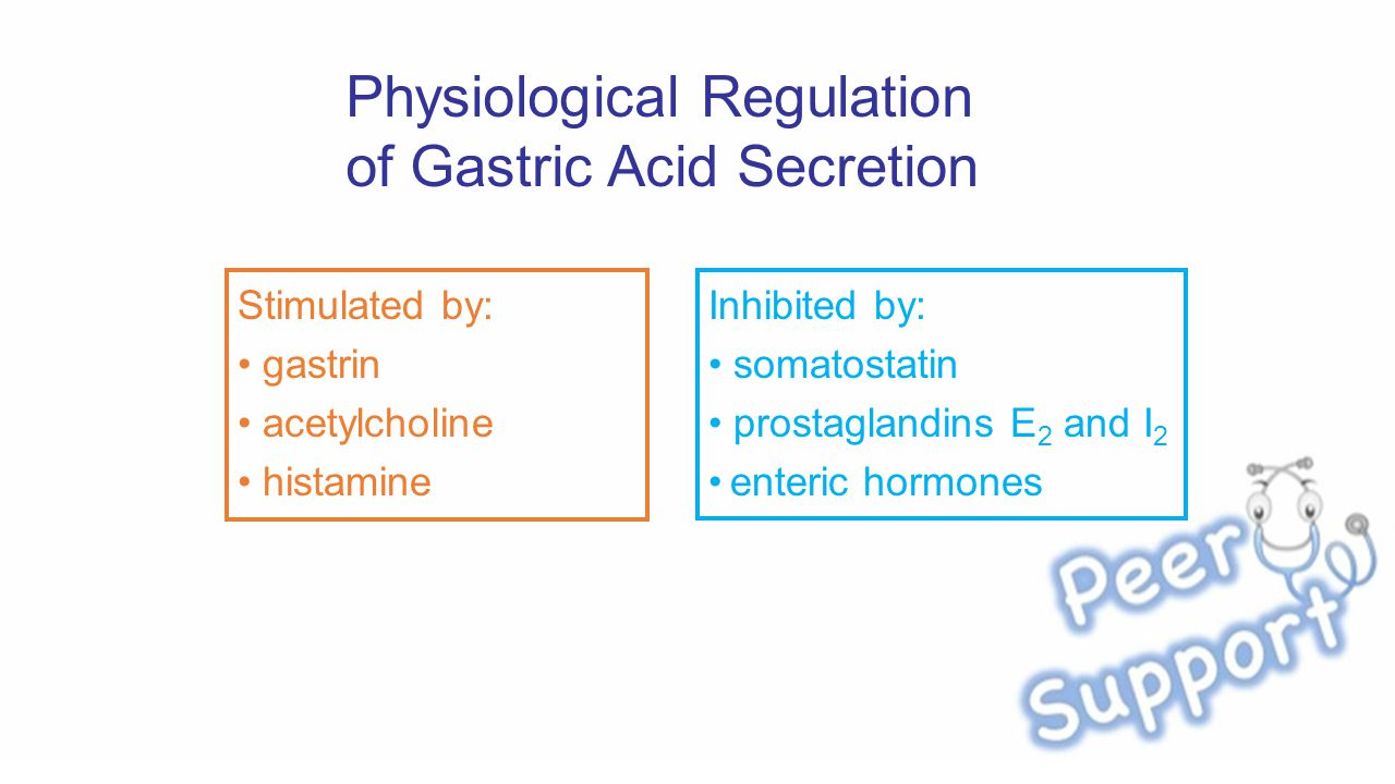 Physiological Regulation of Gastric Acid Secretion