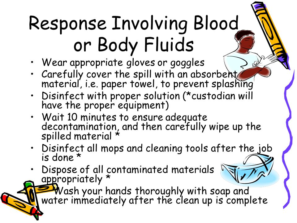 Response Involving Blood or Body Fluids