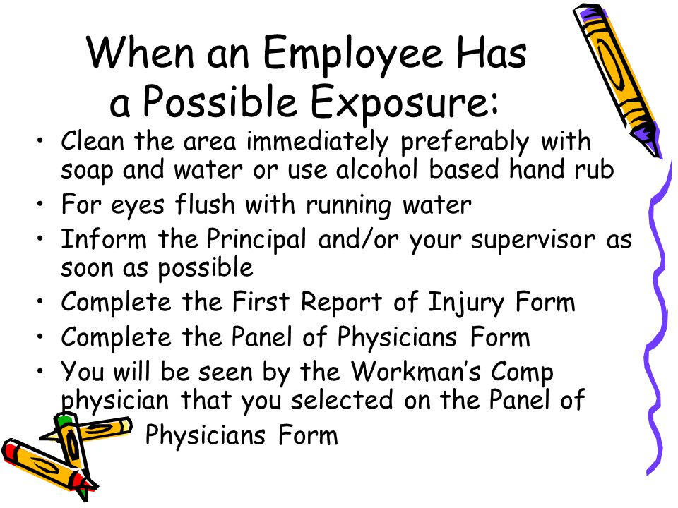 When an Employee Has a Possible Exposure: