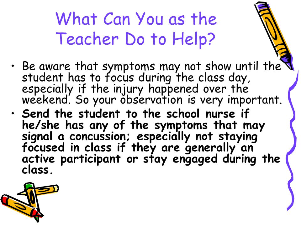 What Can You as the Teacher Do to Help