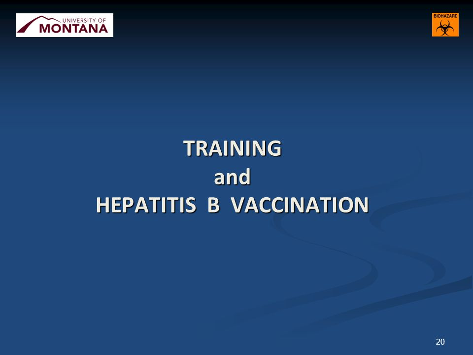 TRAINING and HEPATITIS B VACCINATION