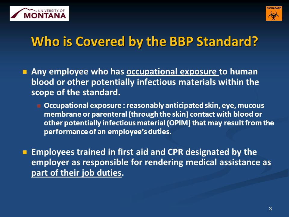 Who is Covered by the BBP Standard