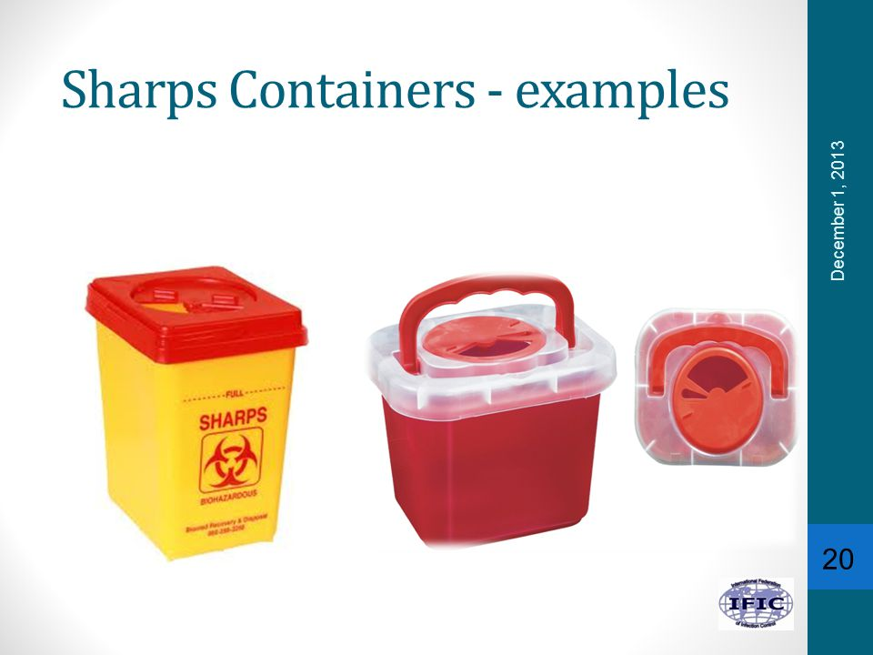 Sharps Containers - examples