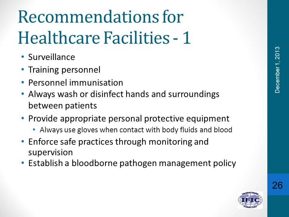 Recommendations for Healthcare Facilities - 1