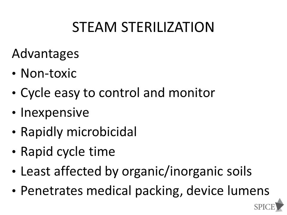 Steam Sterilization Advantages Non-toxic
