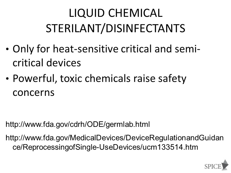 Liquid Chemical Sterilant/Disinfectants