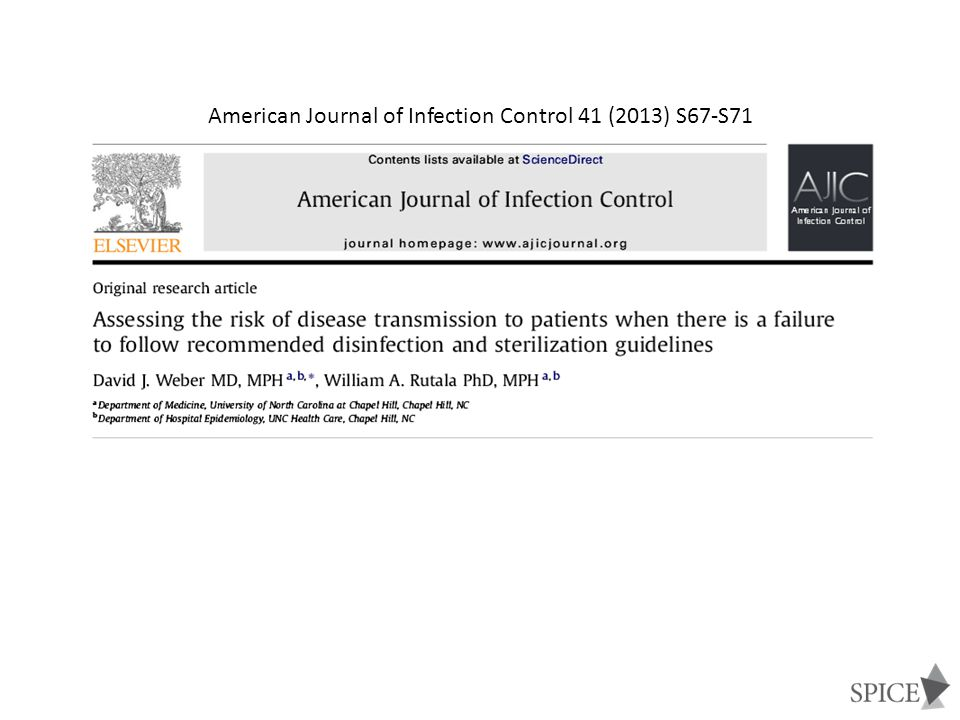 American Journal of Infection Control 41 (2013) S67-S71