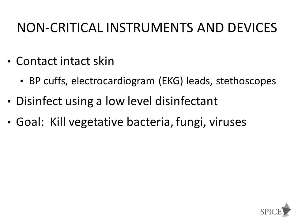 Non-critical instruments and devices