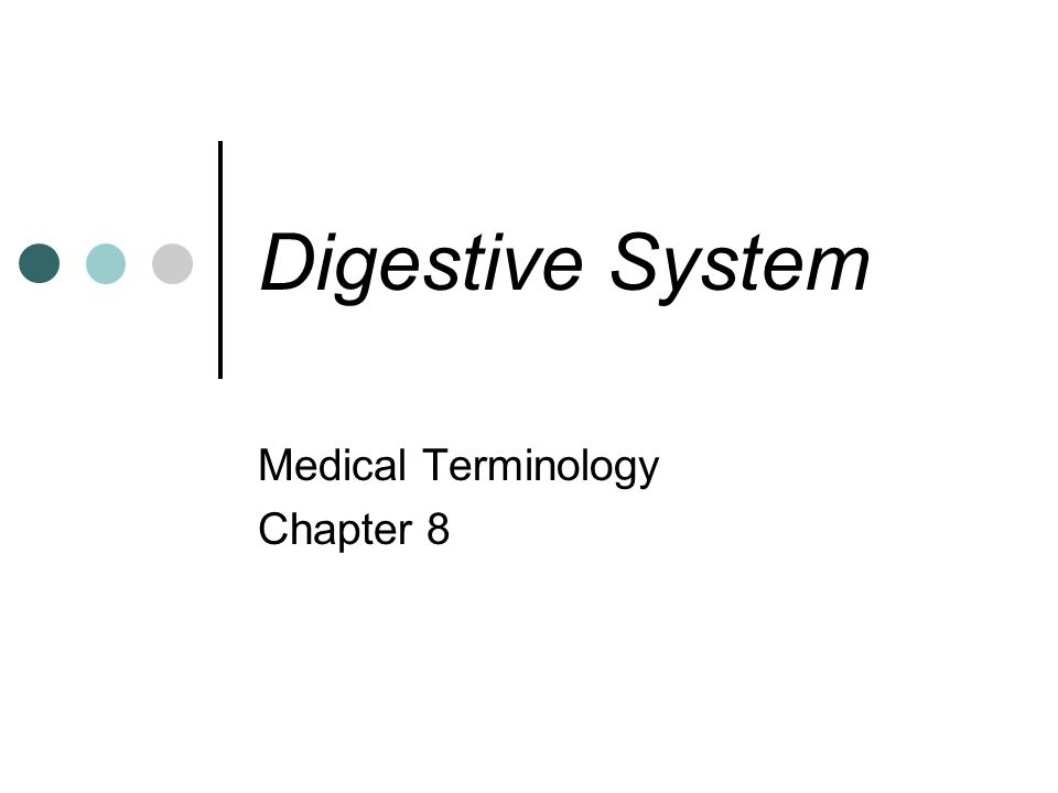 Medical Terminology Chapter 8