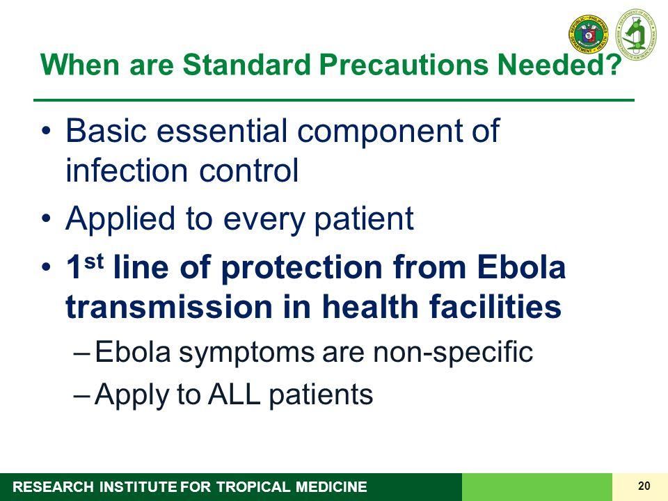 When are Standard Precautions Needed