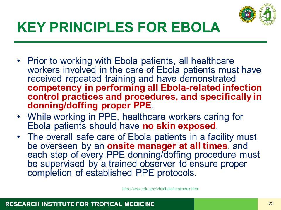KEY PRINCIPLES FOR EBOLA