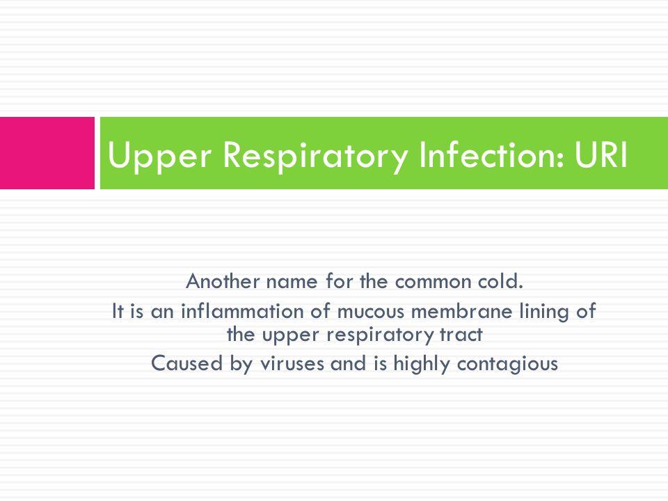 Upper Respiratory Infection: URI