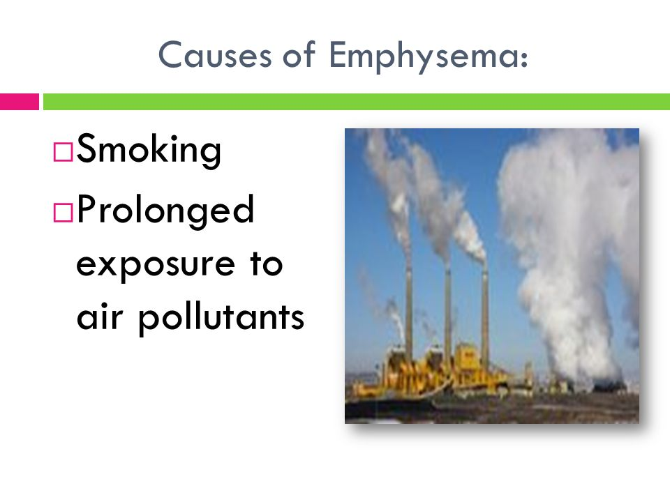Prolonged exposure to air pollutants
