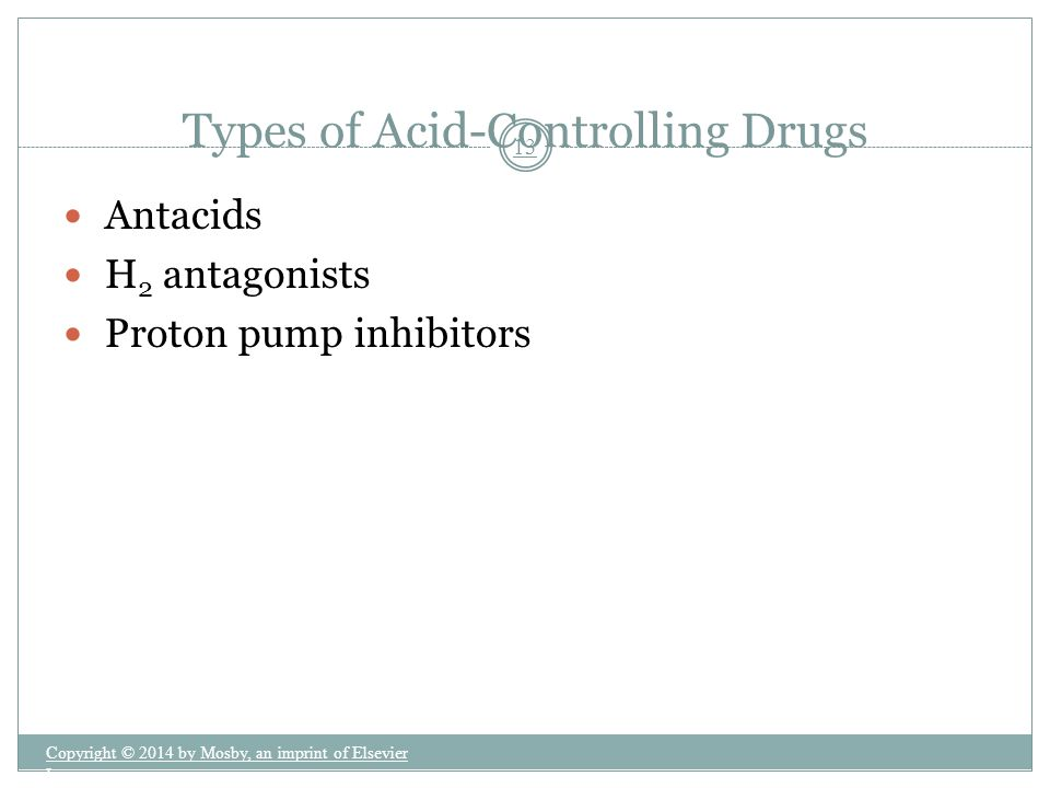 Types of Acid-Controlling Drugs