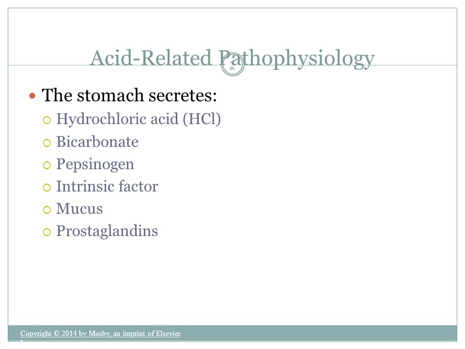 Acid-Related Pathophysiology