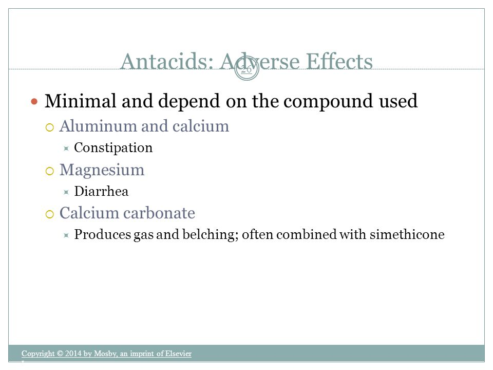 Antacids: Adverse Effects