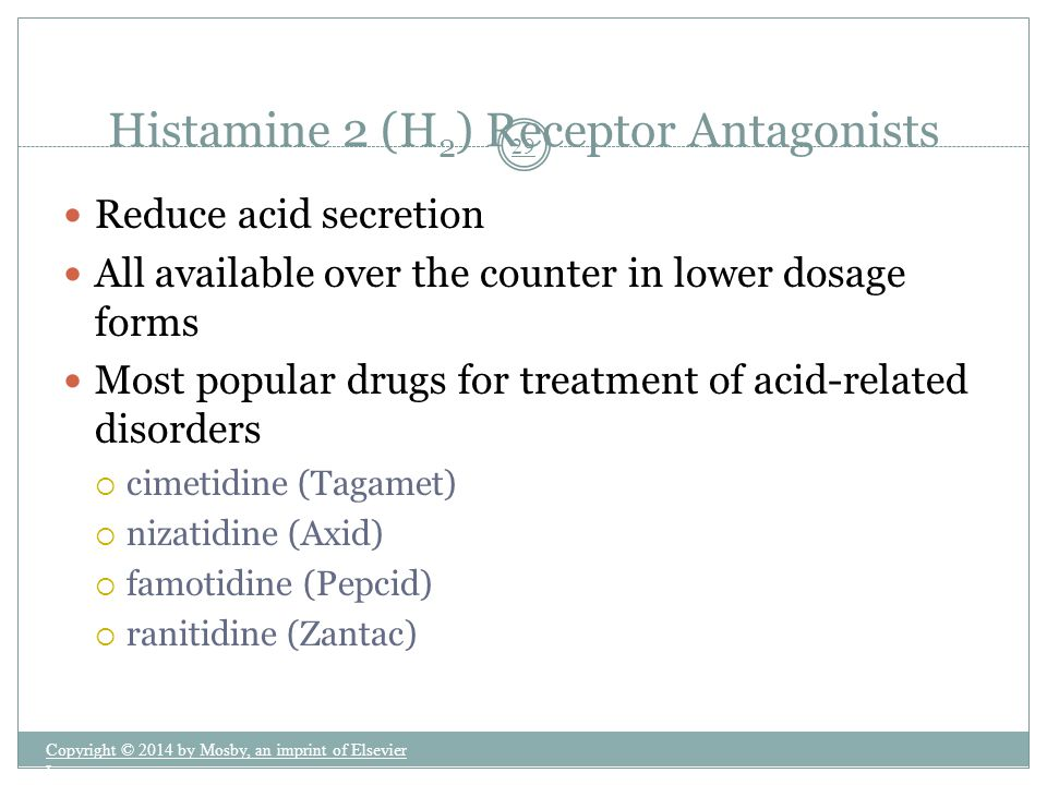 Histamine 2 (H2) Receptor Antagonists