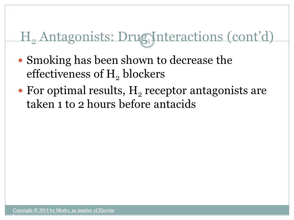 H2 Antagonists: Drug Interactions (cont'd)
