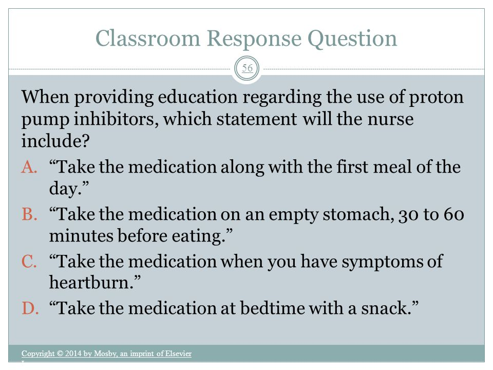 Classroom Response Question