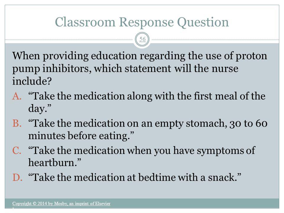 Classroom Response Question