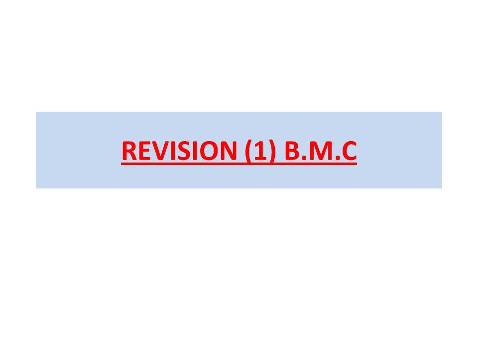 REVISION (1) B.M.C