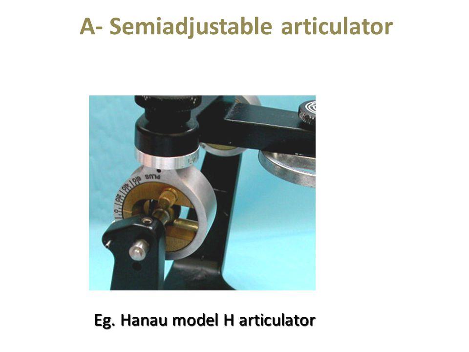 A- Semiadjustable articulator